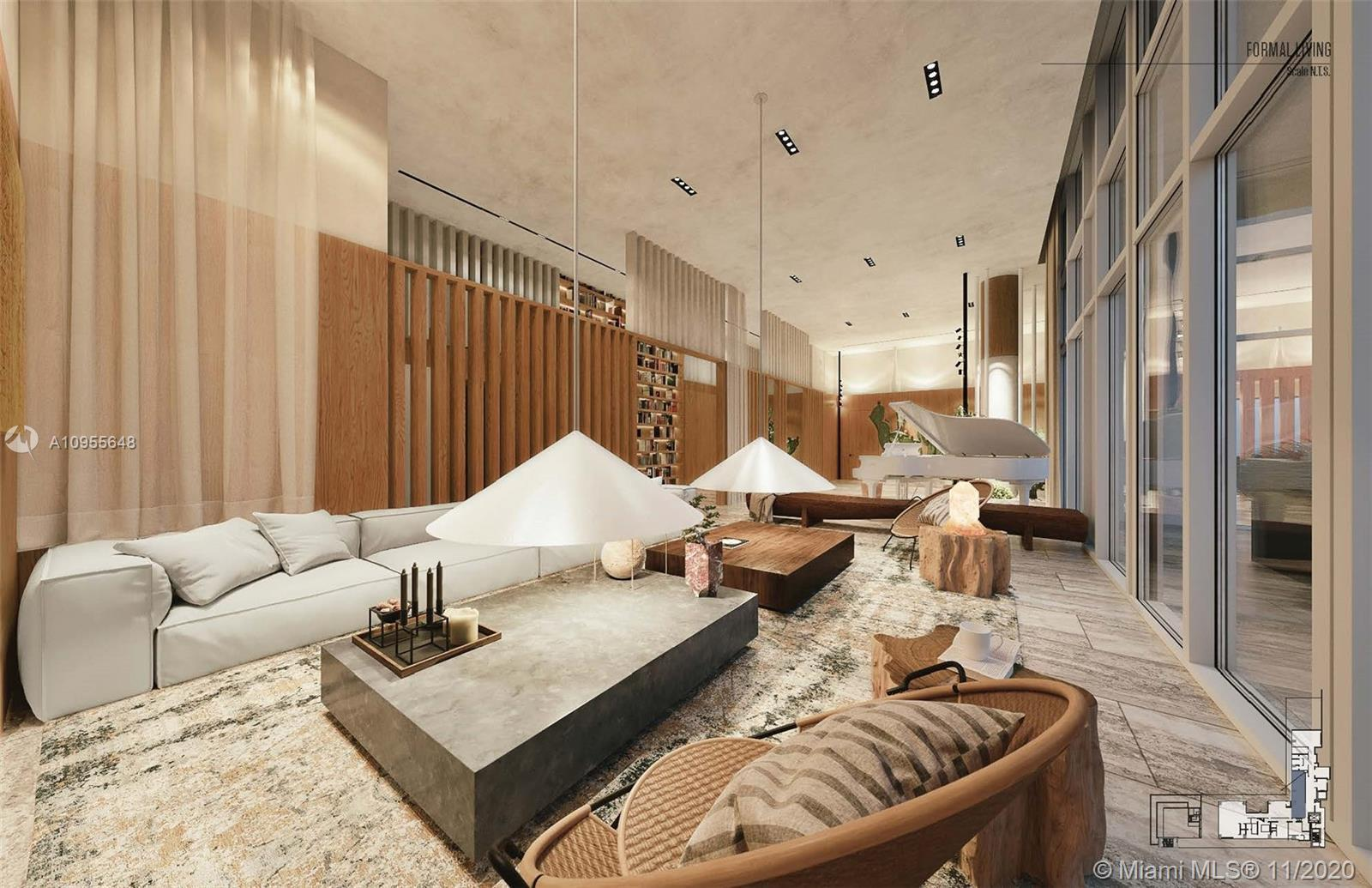 One of the five exclusive penthouses that crown the top floor of The Ritz-Carlton Residences, Miami