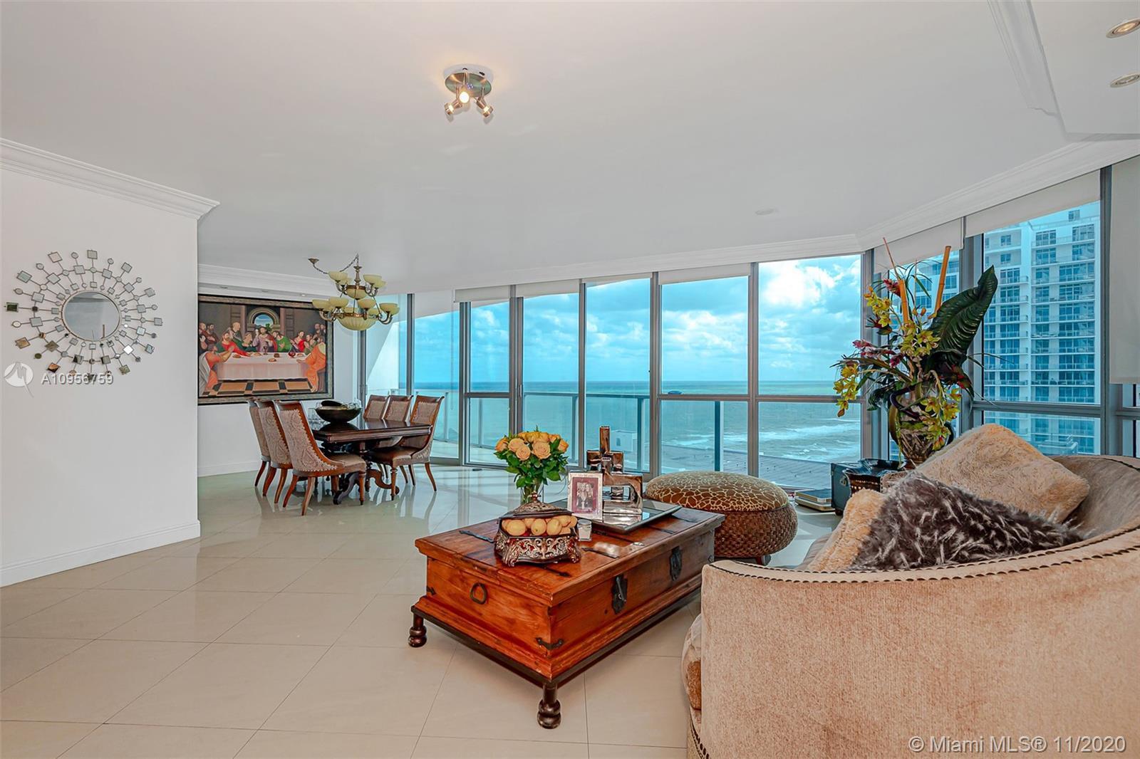 Fantastic Ocean Front Building! Ocean Views Furnished 3 Bedrooms/3 Bathrooms Private Elevators To Gr