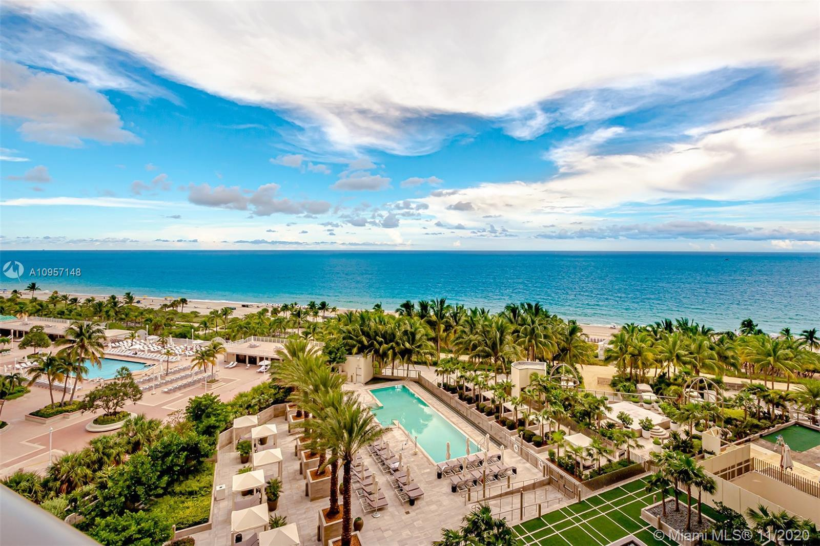 St. Regis Bal Harbour beach Resort, Turnkey condo hotel with direct ocean views from 2 private, over
