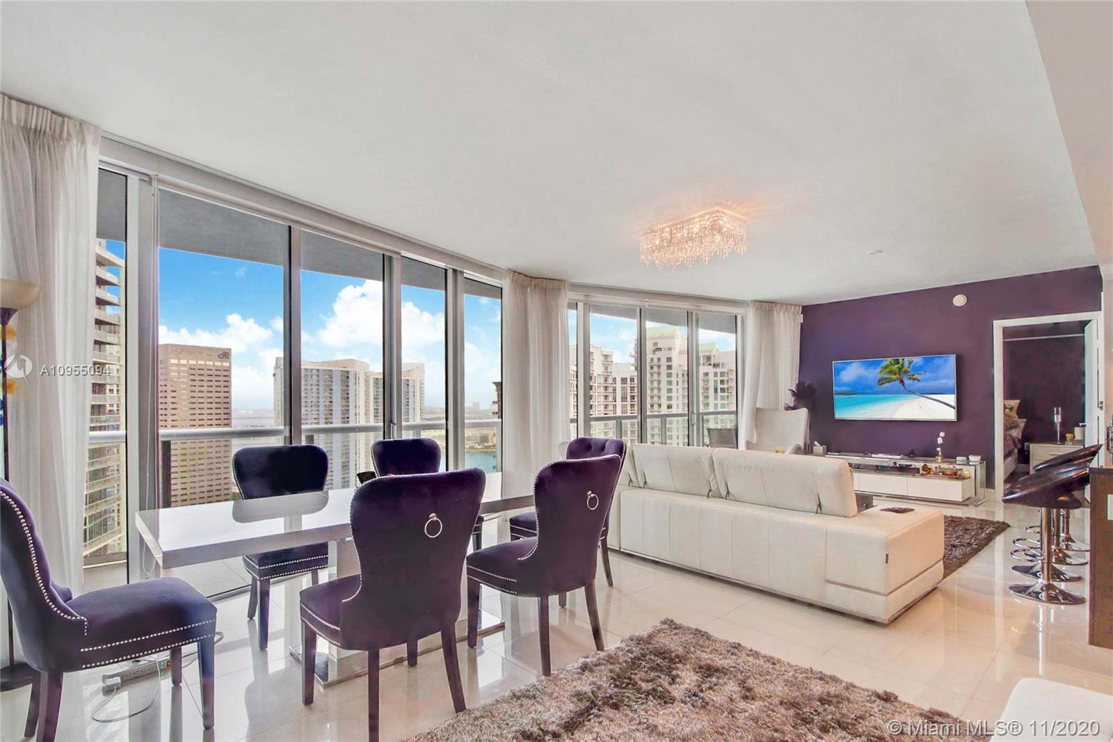 Priced to Sell. Impeccably finished 2bed/2bath 1,500 SF residence in luxurious Icon Brickell Tower I