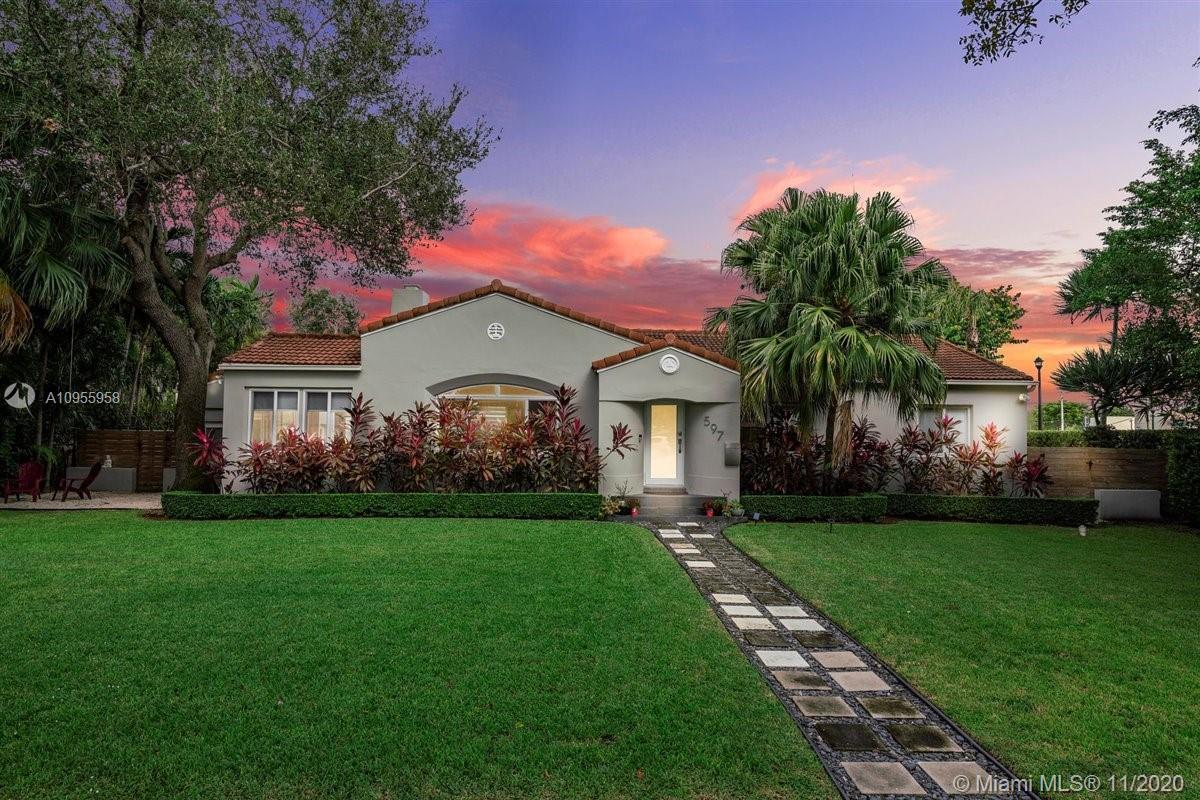 Spacious and luxurious Miami Shores home on oversized corner double lot!! located at the end of the