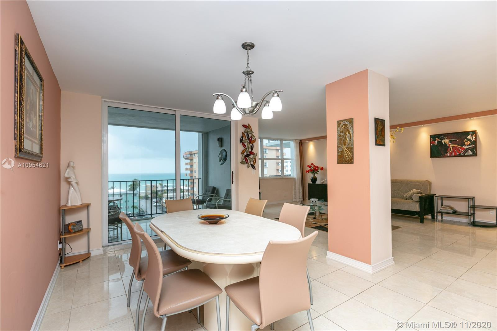 North-East exposure with the beautiful view of the Ocean and Intercoastal. Across the street from th