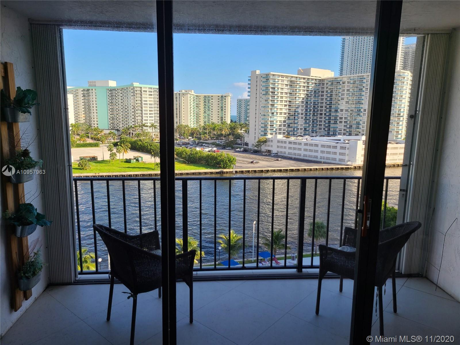 Gorgeous unit with direct intercostal view from every room. 2 parking spot (one cover) hurricane sh