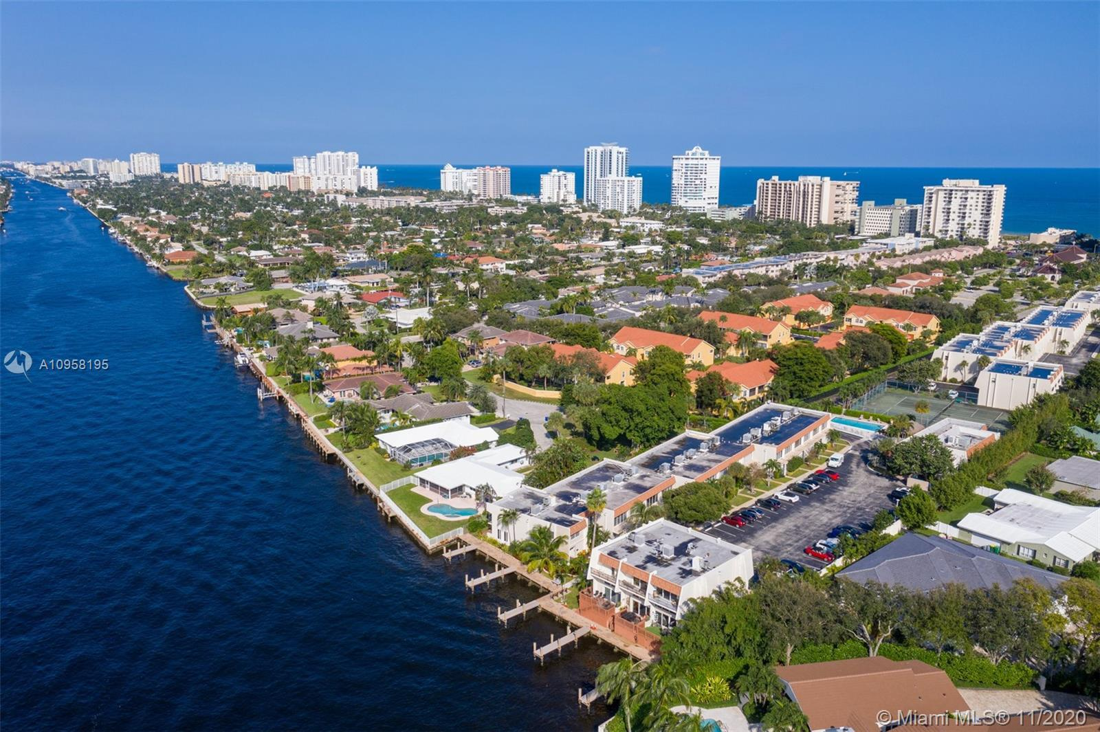 Located in Lauderdale By The Sea. This two-story 2 bedroom 2 and a half bathroom townhome features a