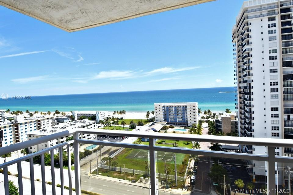 Fully furnished and renovated large size 1268 sq ft 2 bedrooms unit with direct Oceanview from every