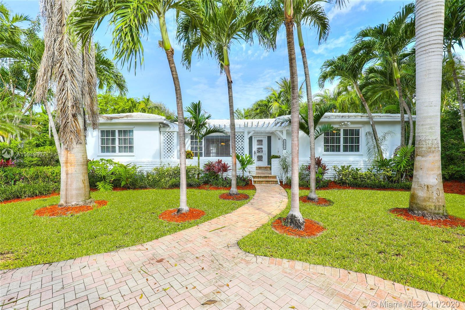 Located on the east side of Miami Shores. 3 Bedrooms/2 full Baths with a split floor plan. Lots of l