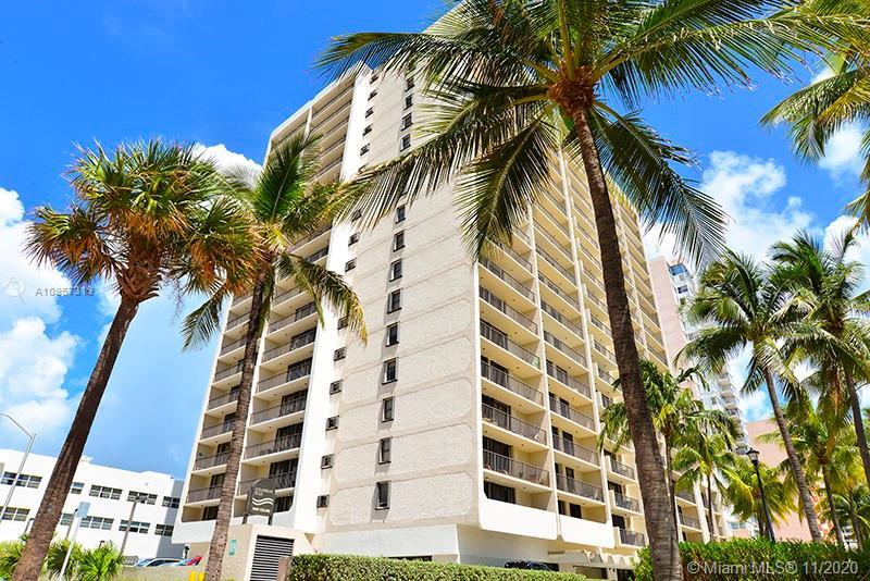 One bedroom with direct beach access at the Oceanfront Plaza Condo in Miami Beach. From the 6th floo