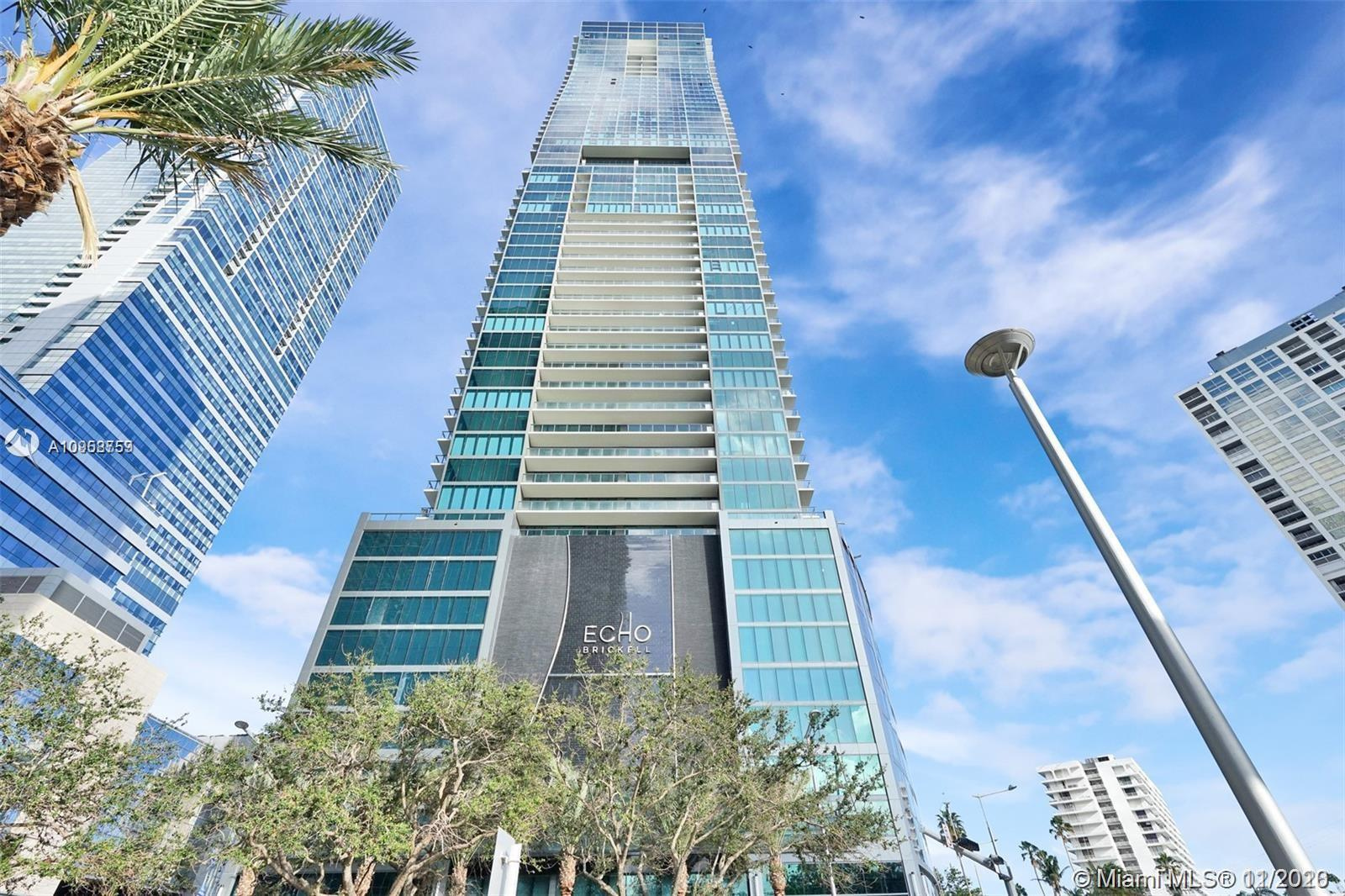 Brand New , Never lived in 1 bedroom 1 1/2 bath unit at Echo Brickell, The most exclusive and boutiq