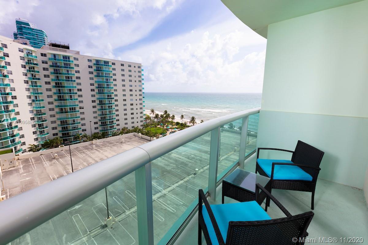 Beautiful ocean front 1Bedroom/ 1 bath unit. Building featuring cinema, 2 gyms, onside store, 2 pool