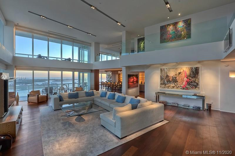 SULTRY ENTERTAINER'S DREAM TROPHY PENTHOUSE WRAPPED IN VIEWS AT THE ICON SOUTH BEACH! This Tri-Level