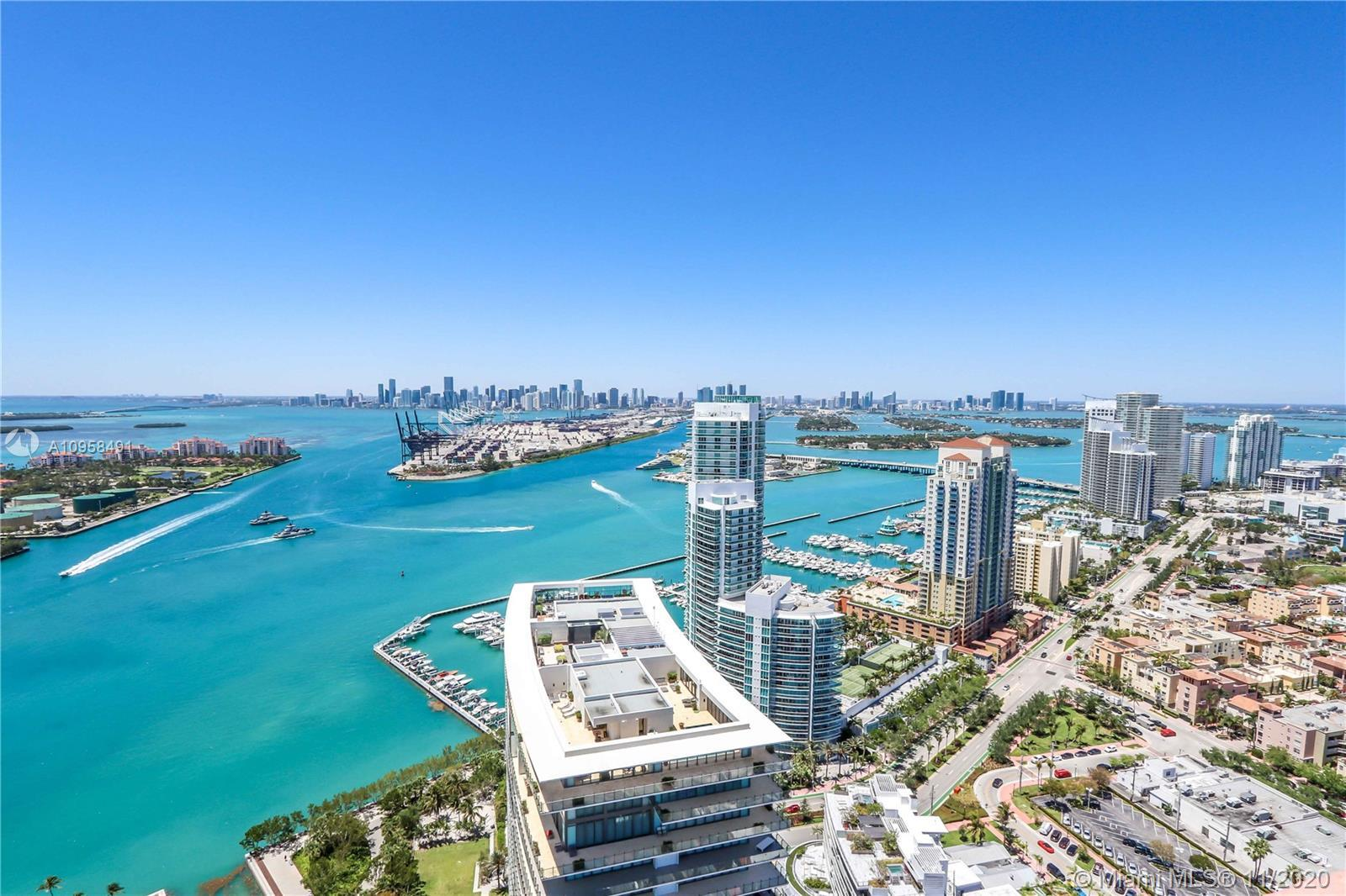 Stunning 270 degree ocean, intracoastal & downtown views from this extra spacious 2,550 square foot