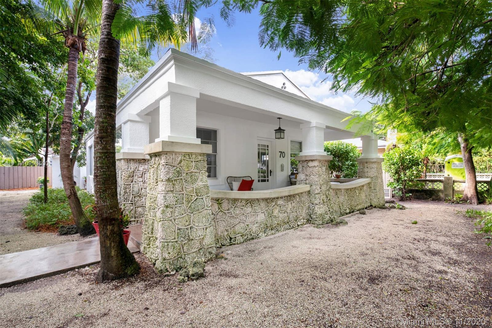 Adorable corner lot bungalow in the highly desired Design District neighborhood. The property featur