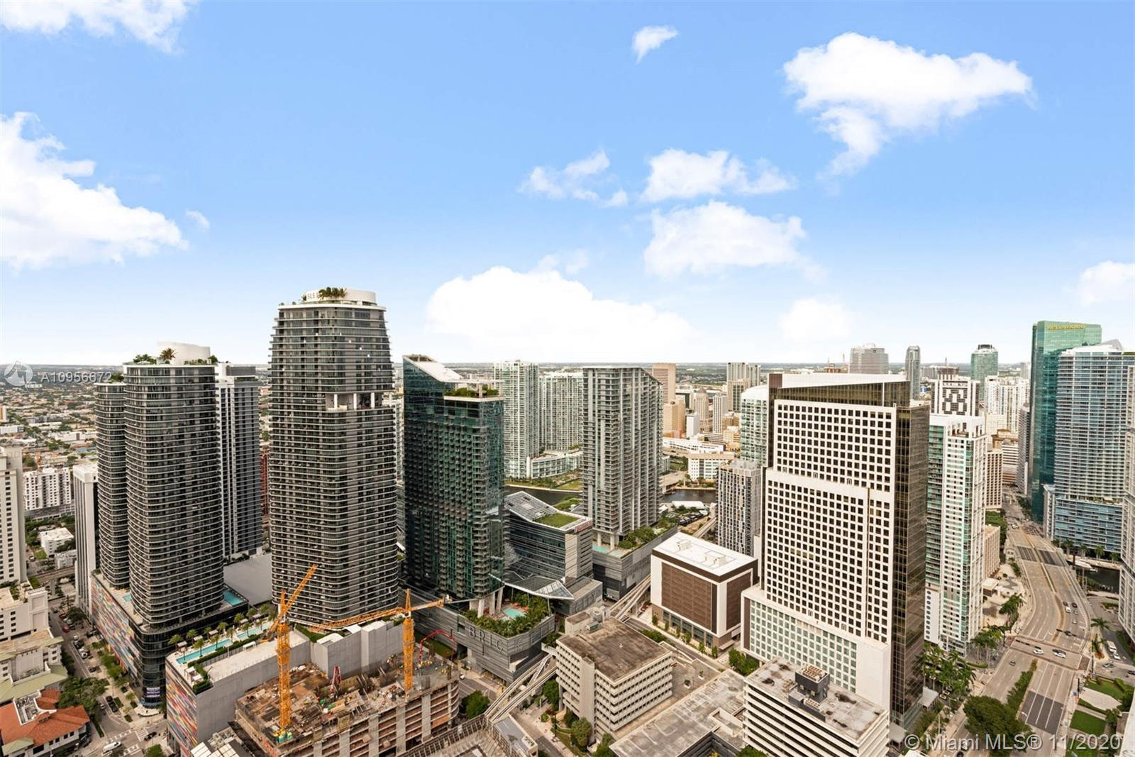 Gorgeously remodeled. Corner Penthouse 1 bedroom, 1 bath at The Plaza on Brickell. Stunning water &