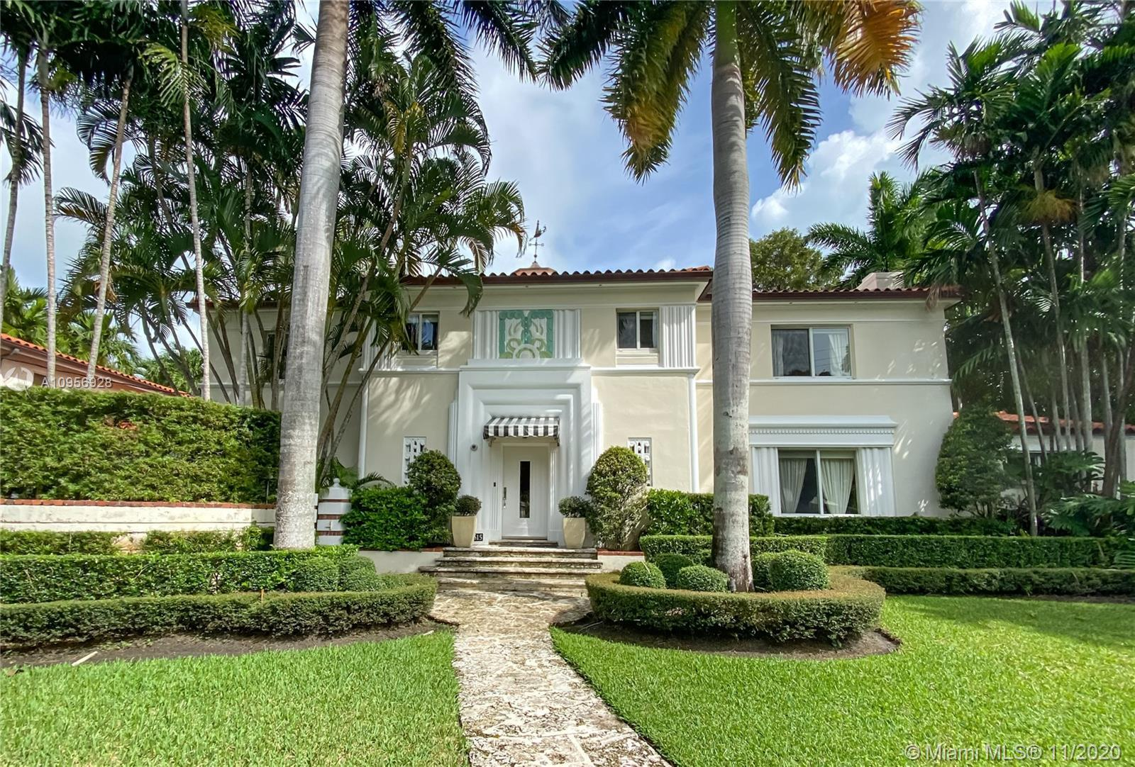 Exceptional 1928 Art Deco residence by renowned South Beach architect, Henry Hohauser. Fall in love