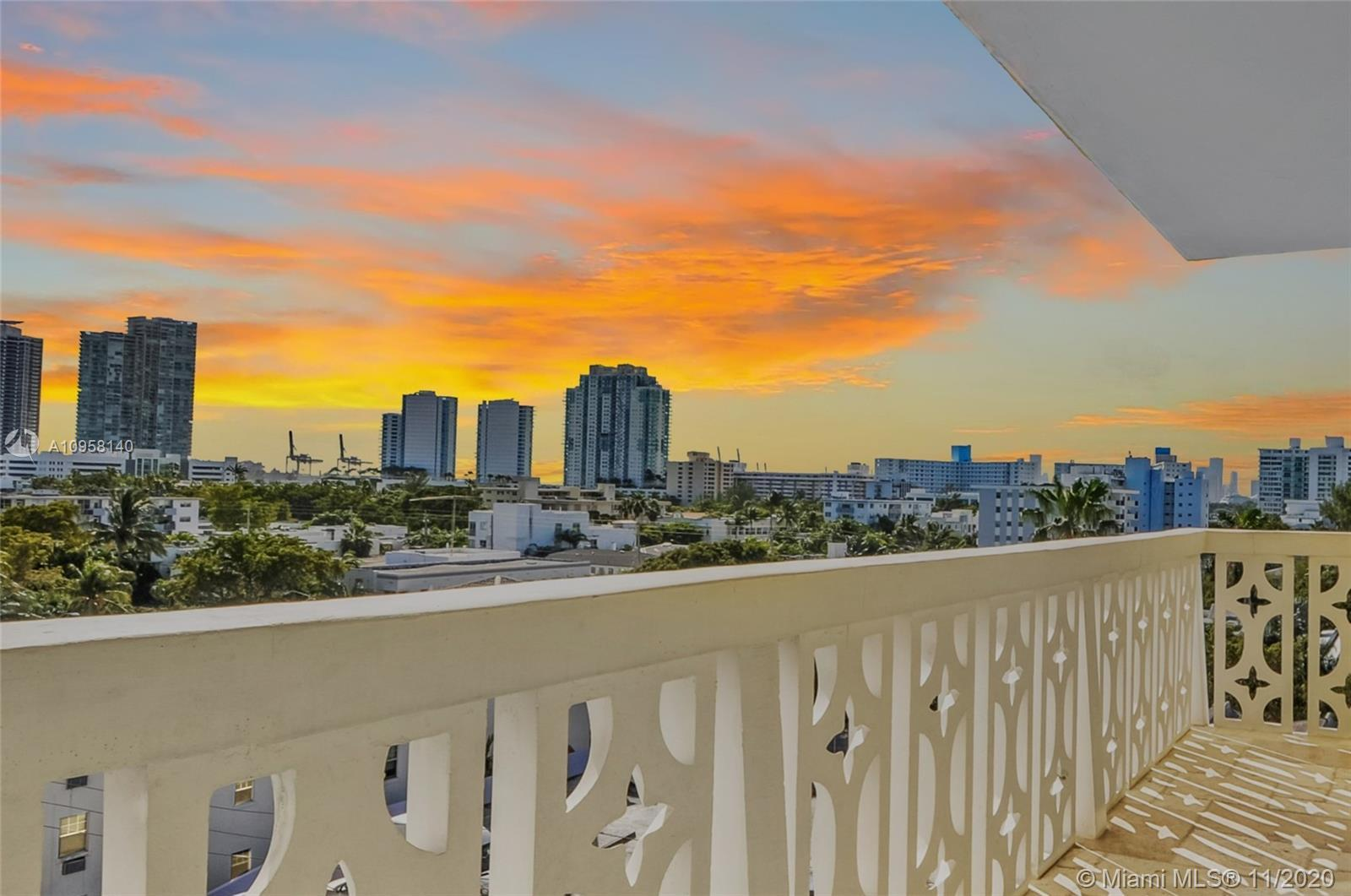 ABSOLUTELY FABULOUS! THIS SEVENTH FLOOR UNIT HAS STUNNING UNOBSTRUCTED VIEWS OF MIAMI BEACH AND DOWN