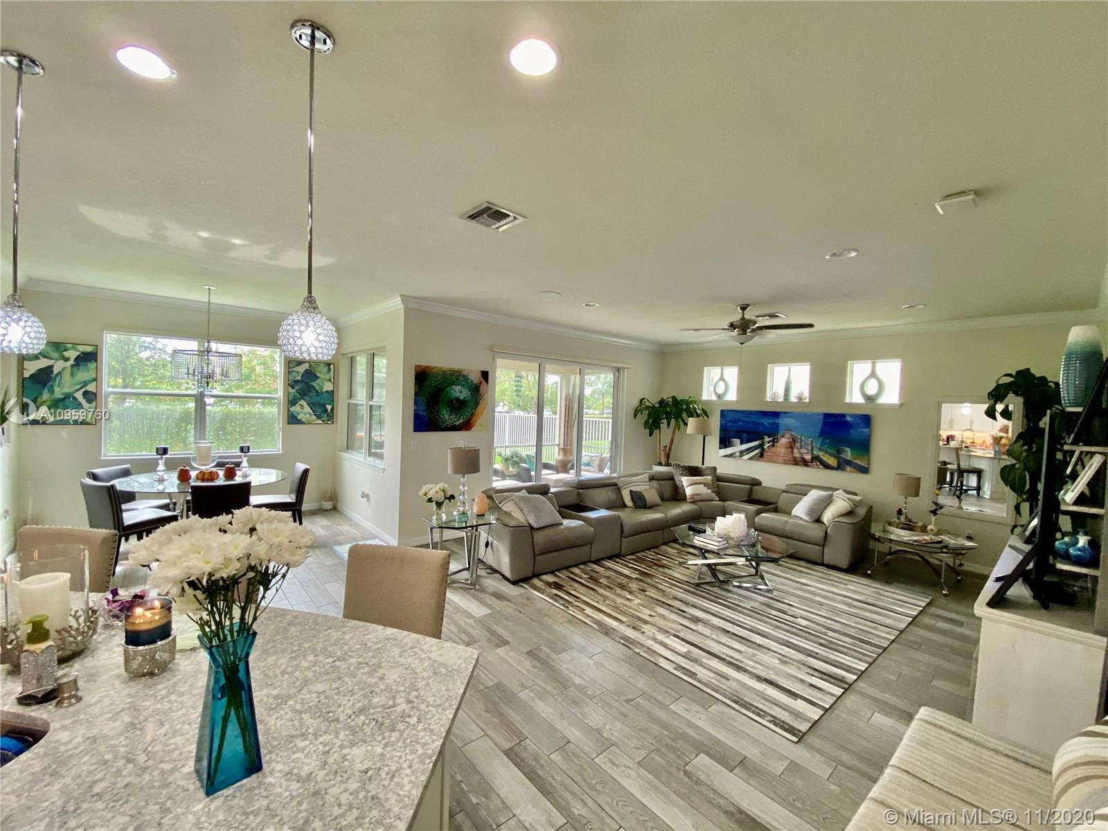 Spectacular newly modern construction home to move in. Gated community in Hollywood with a resort st