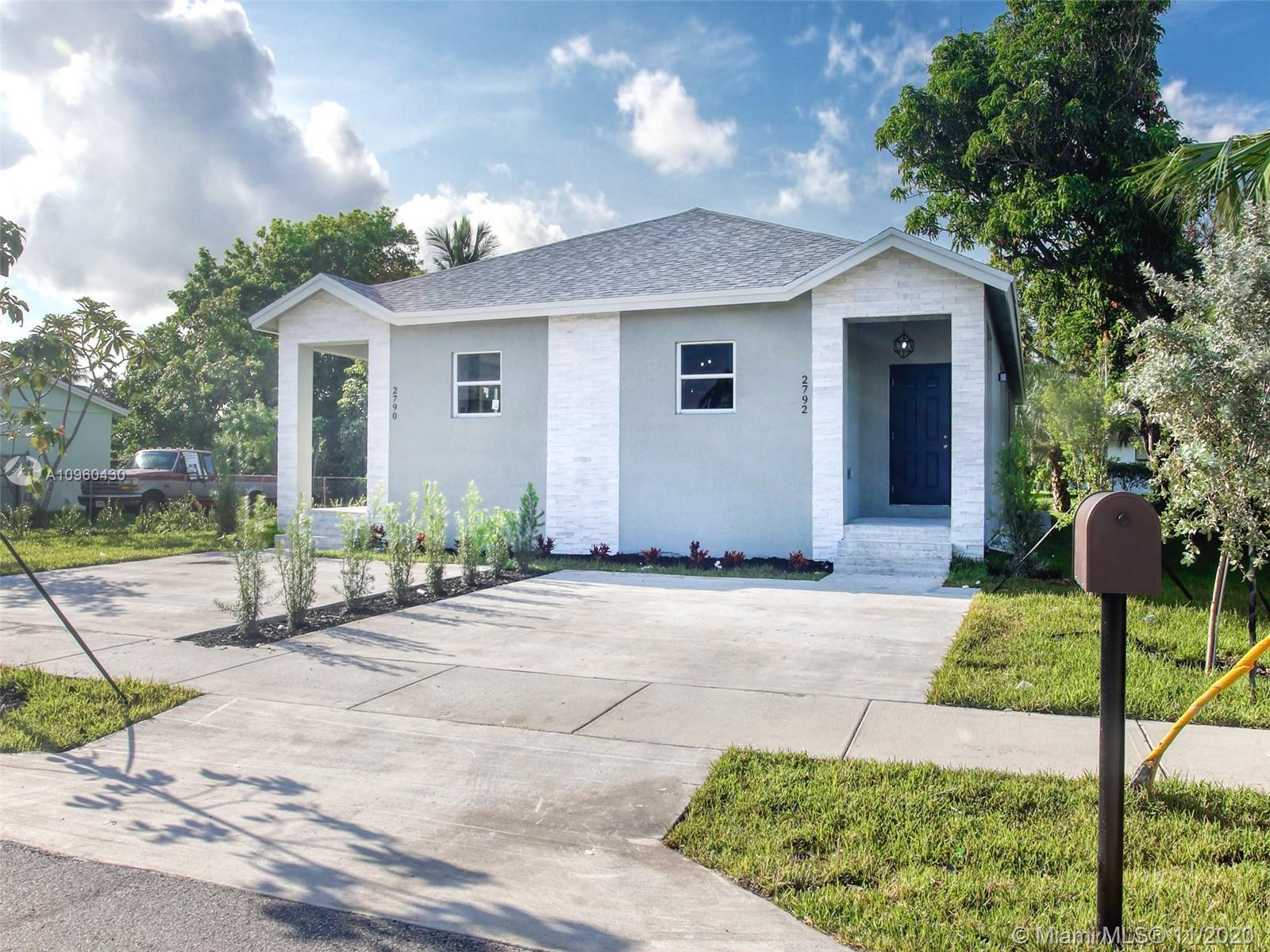 New construction in Fort Lauderdale at a great price. This sale is for 1/2 of a new construction dup
