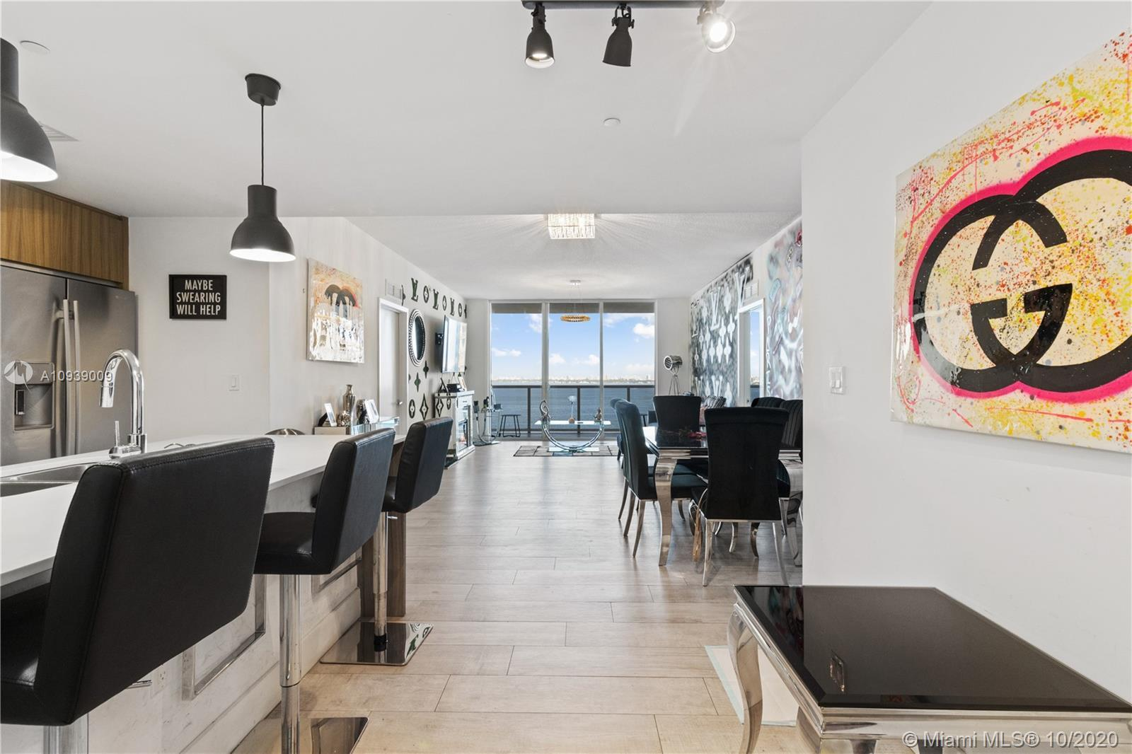 Enjoy the Amazing Water Views from every angle of this partially furnished and ready for move-in 3 B
