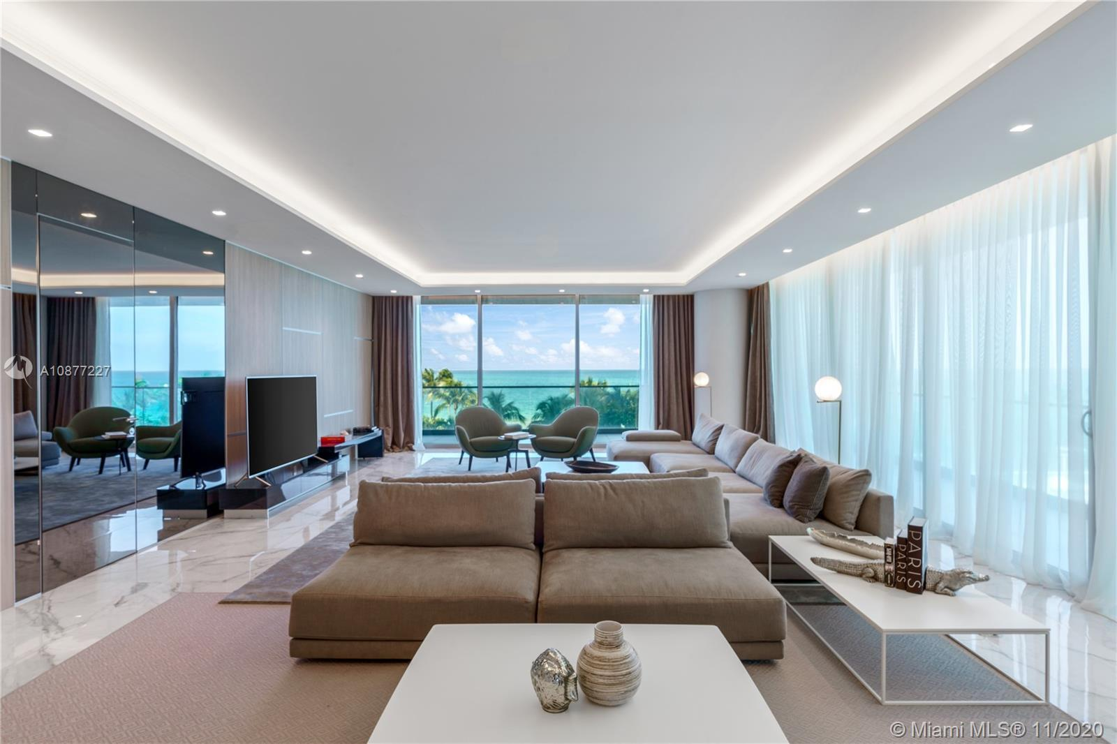 Breathtaking oceanfront residence with endless ocean views, located at Oceana Bal Harbour. This cust