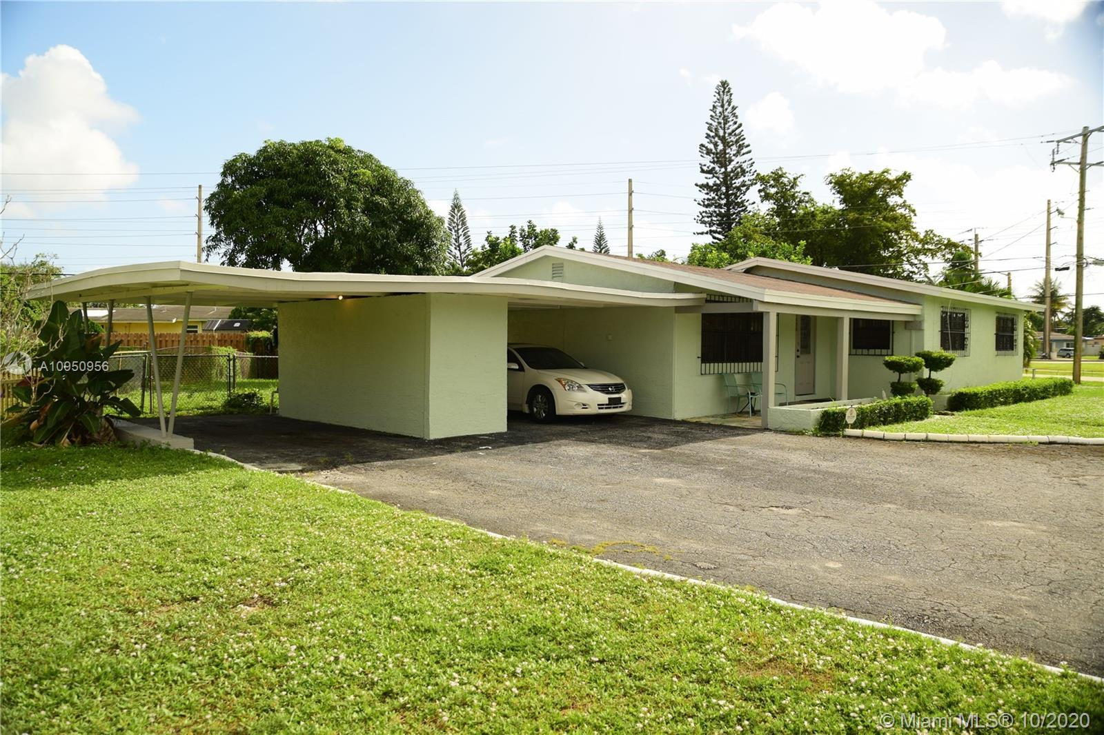 Bring all offers to this oversized corner lot home that includes 3 bedrooms and 2 bathrooms with an
