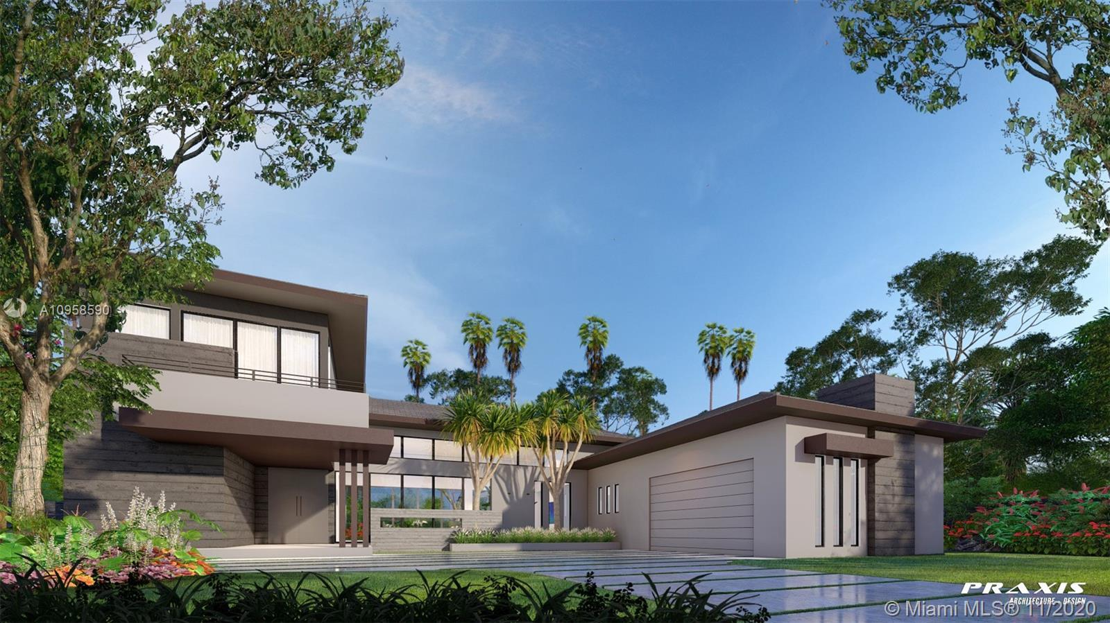 Unique design in Pinecrest.  Expected Completion: First quarter 2021.  Contemporary architecture off