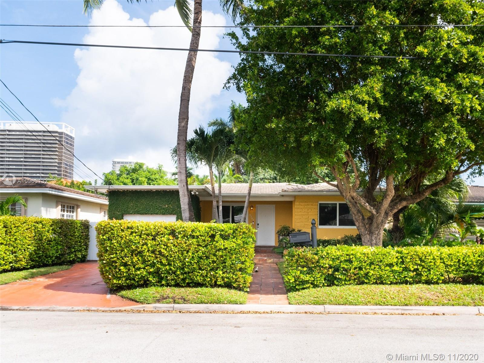 Great updated home on the most desirable block in Surfside (deadend street looking at the bal harbou