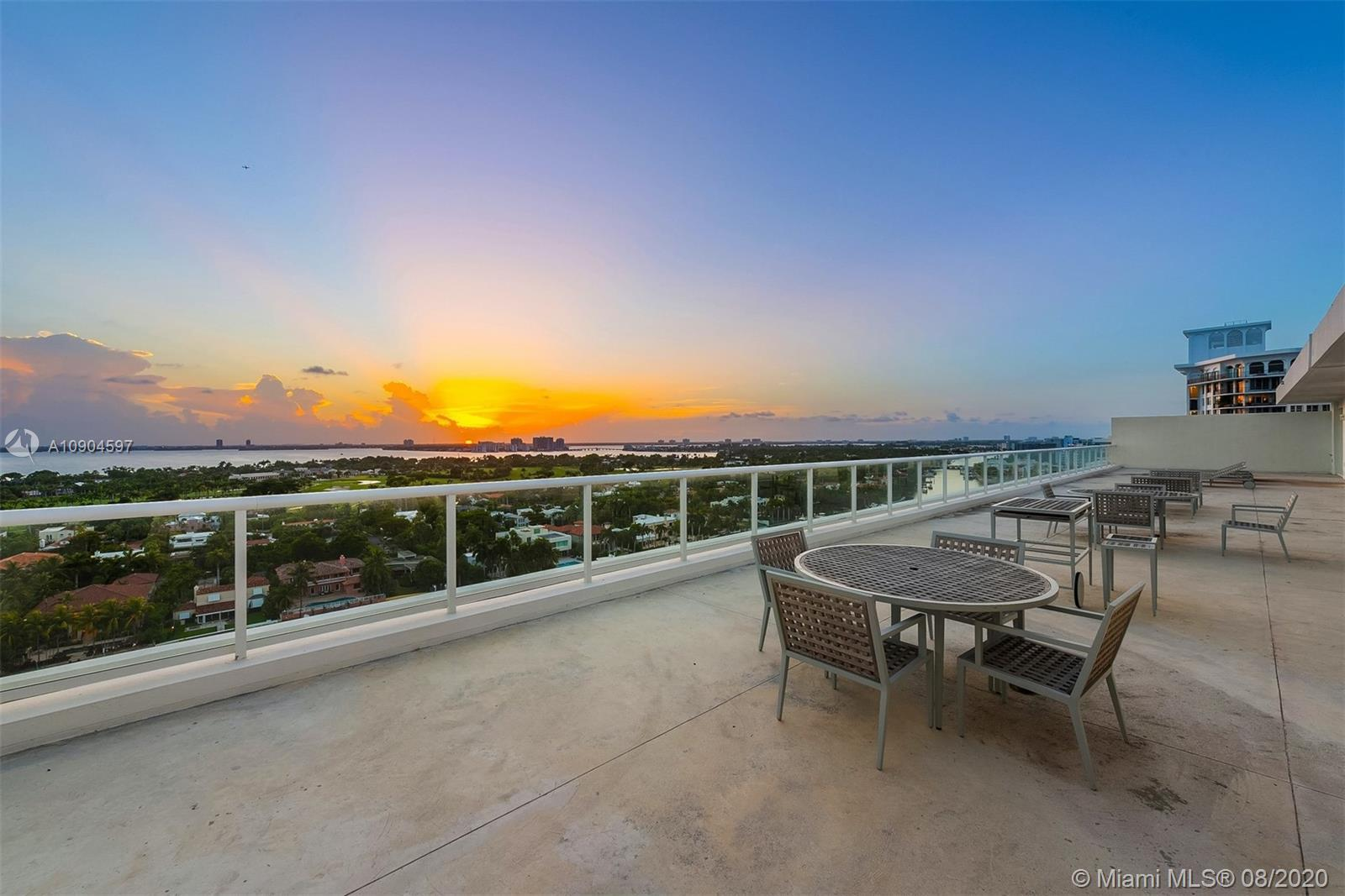 Panoramic views of the bay, Intracoastal, downtown, and La Gorce golf course greet you as you enter