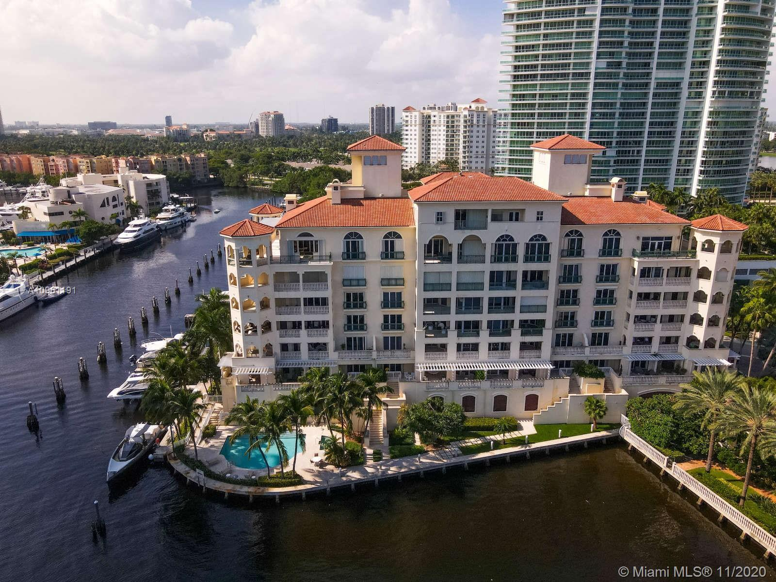 One of only 22 residences at Bella Vista mid rise at Porto Vita in Aventura.  2 private elevators ta