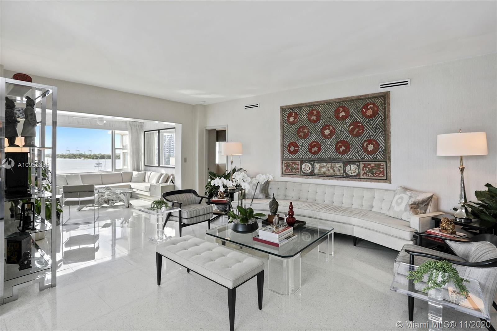 The first double unit ever to be listed at the prestigious Belle Towers on Belle Isle, designed in t