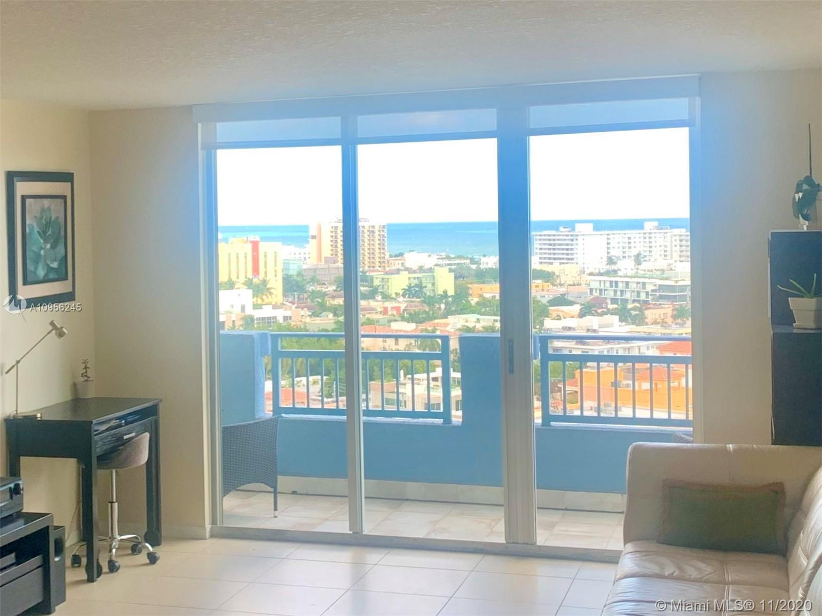 Captivating direct ocean and city views from this pristine 2 bed /2 bath condo situated in the most