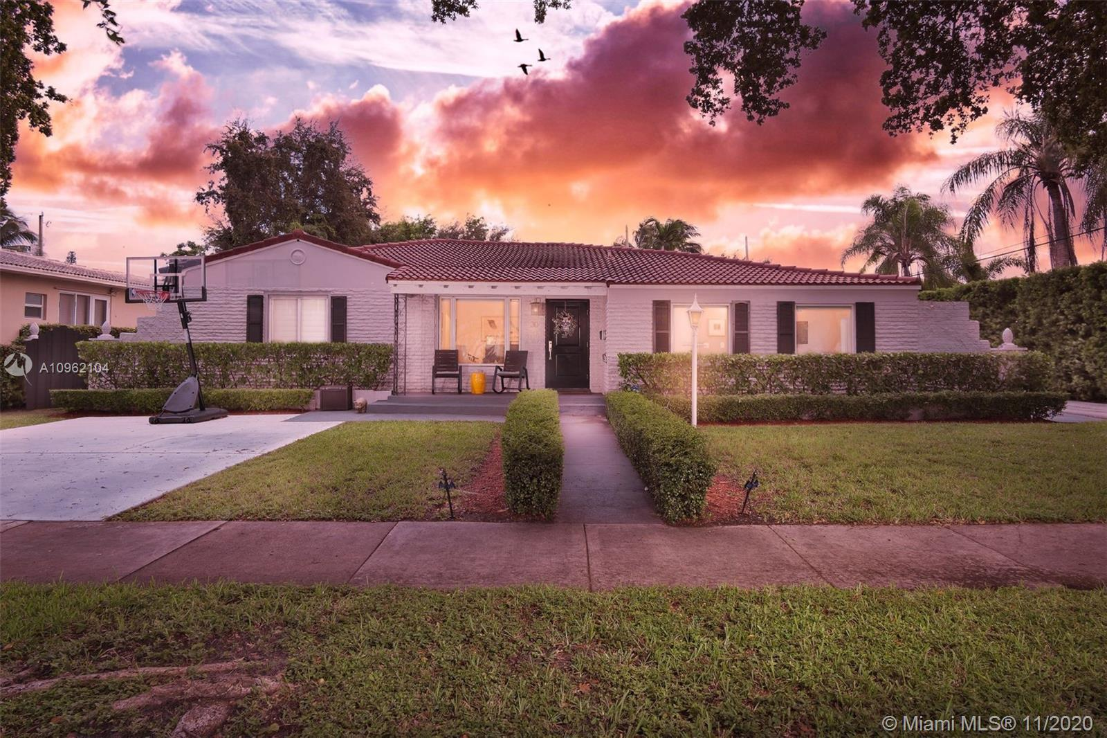 Charming Turn Key Miami Shores Pool Home. This beautifully updated split bedroom plan 4BR-3.5BA has