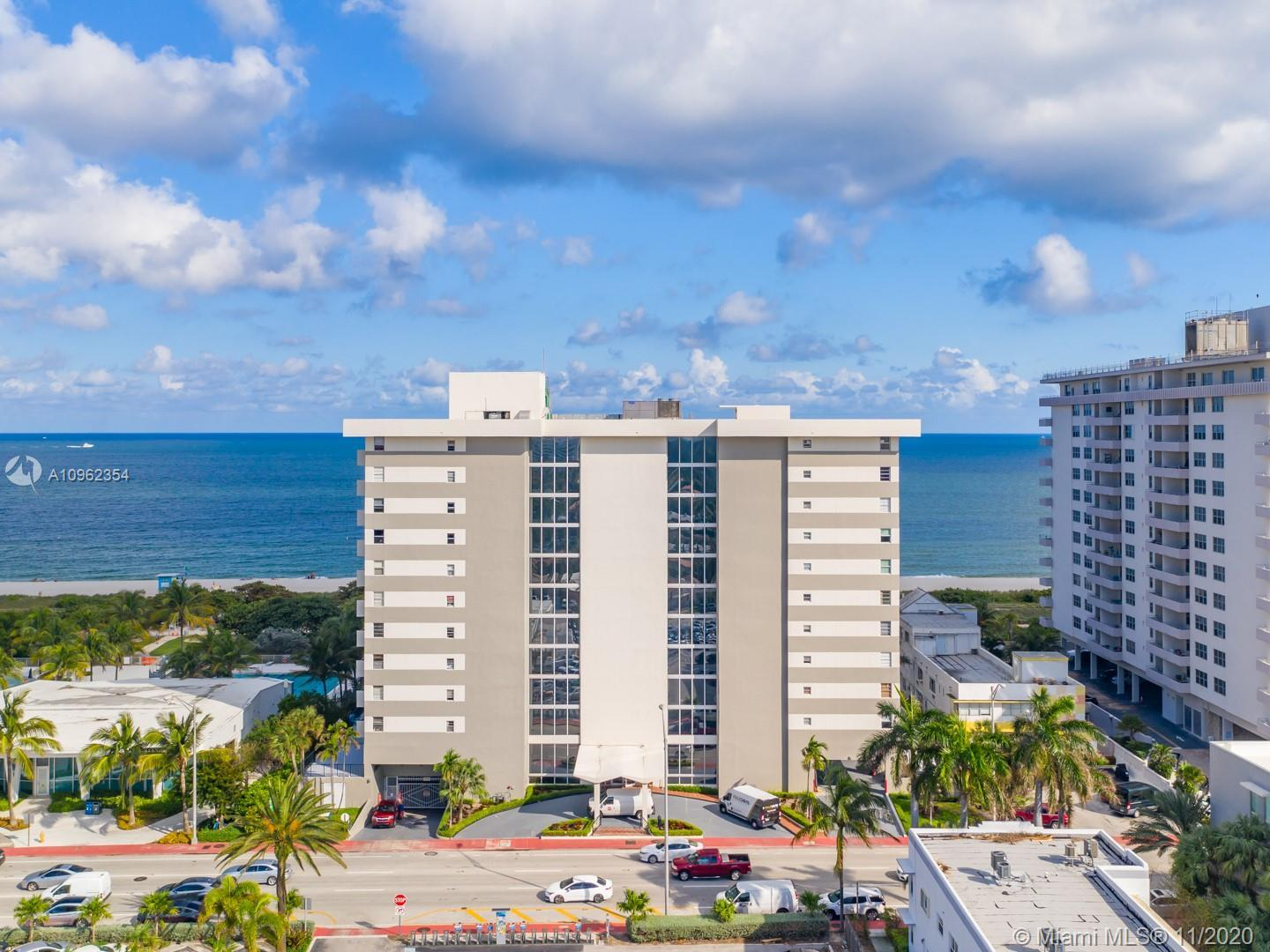DIRECT OCEAN FRONT VIEWS from this beautiful unit! Totally remodelled in 2015 ! Offers 2 Full bathro