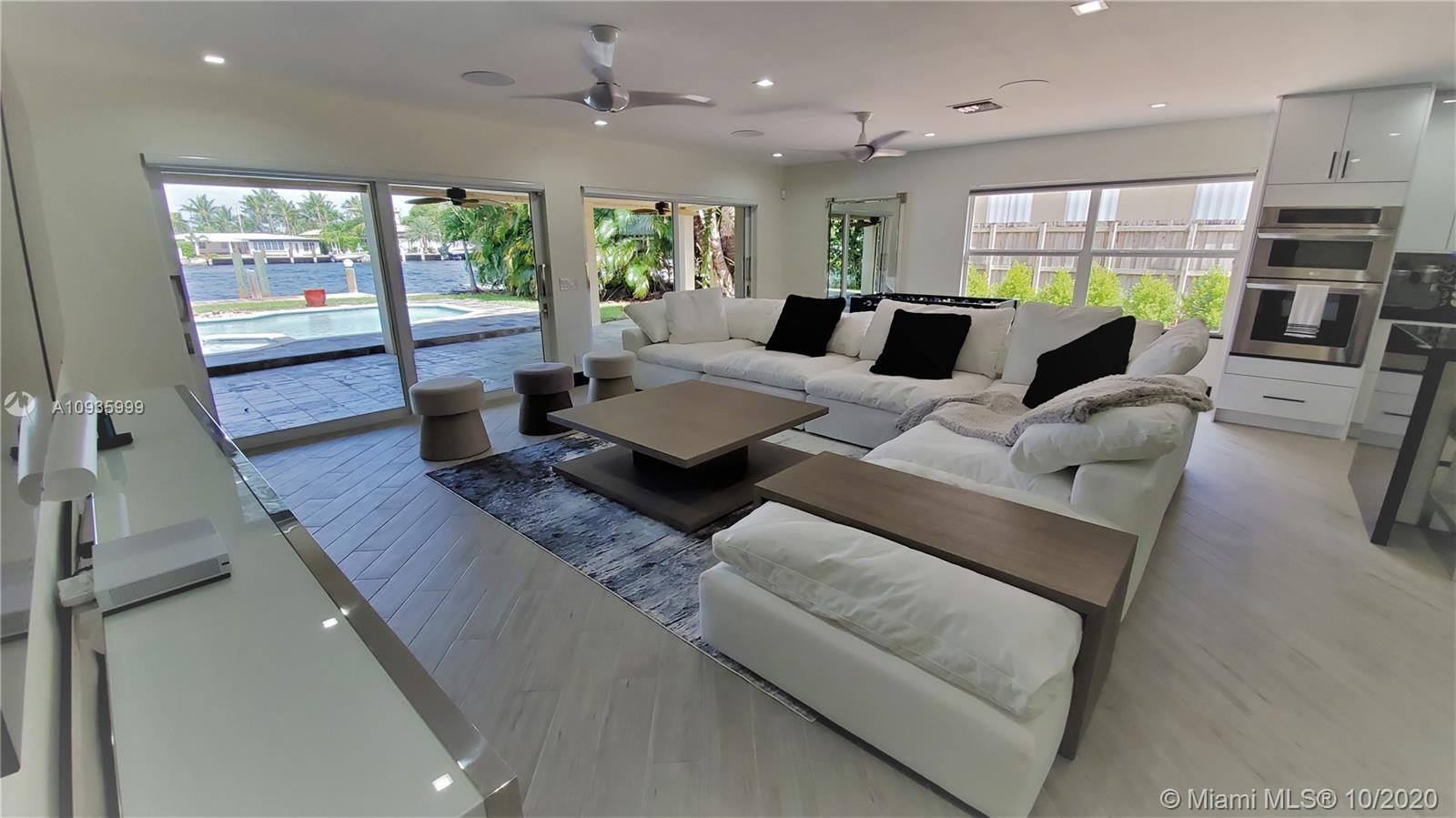 stunning modern intracoastal home completely remodeled to perfection. a true boaters delight, just t