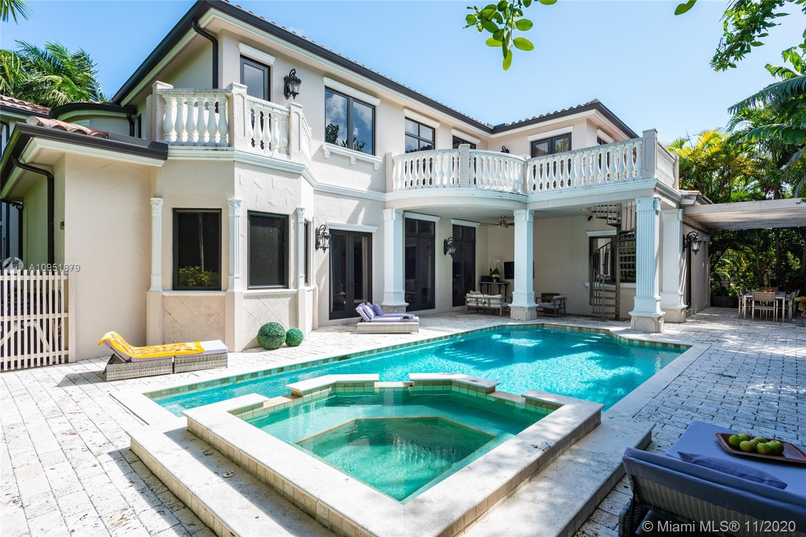 Situated within the exclusive Village of Bal Harbour , this superb residence contains 6 bedrooms and