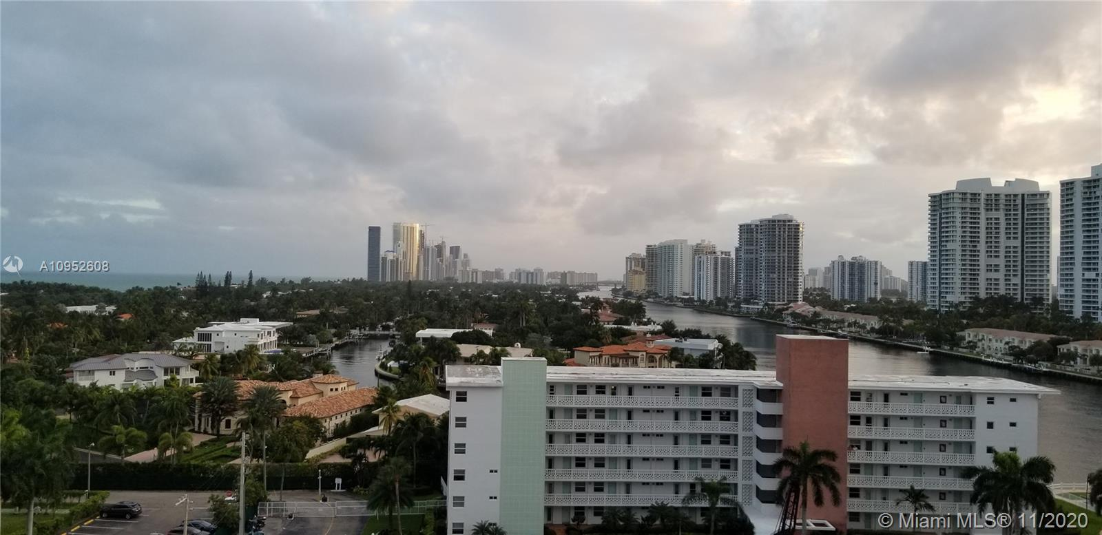 Large 2/2 condo with beautiful  water, ocean and city views from balcony and every window. Centrally