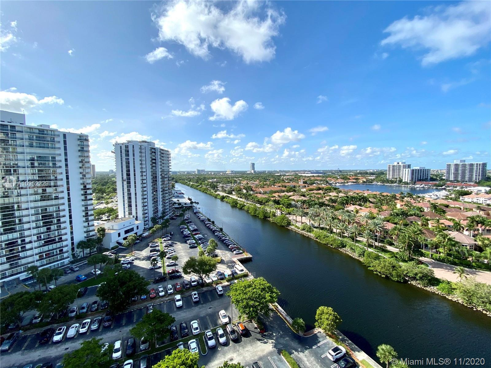 Amazing intercostal views from this spacious 2B/2B condo in desirable Waterview in the heart of Aven