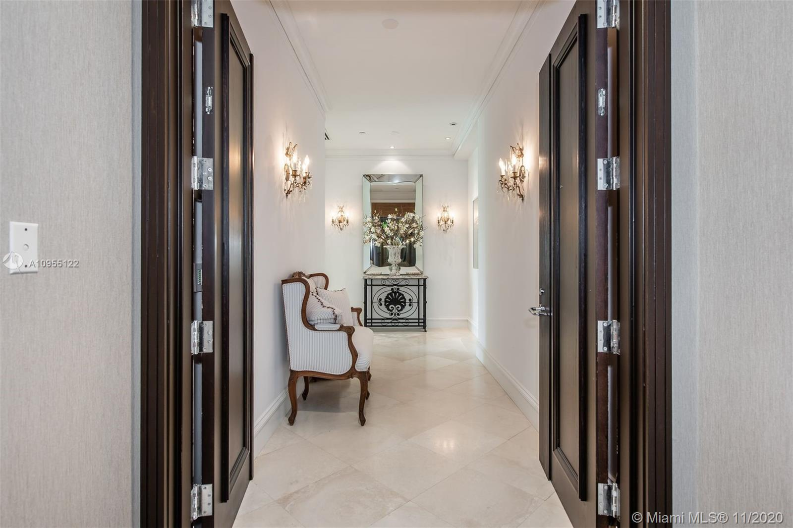 Parisian-style waterfront villa on gated Oceania island accross from the ocean. This spectacular res