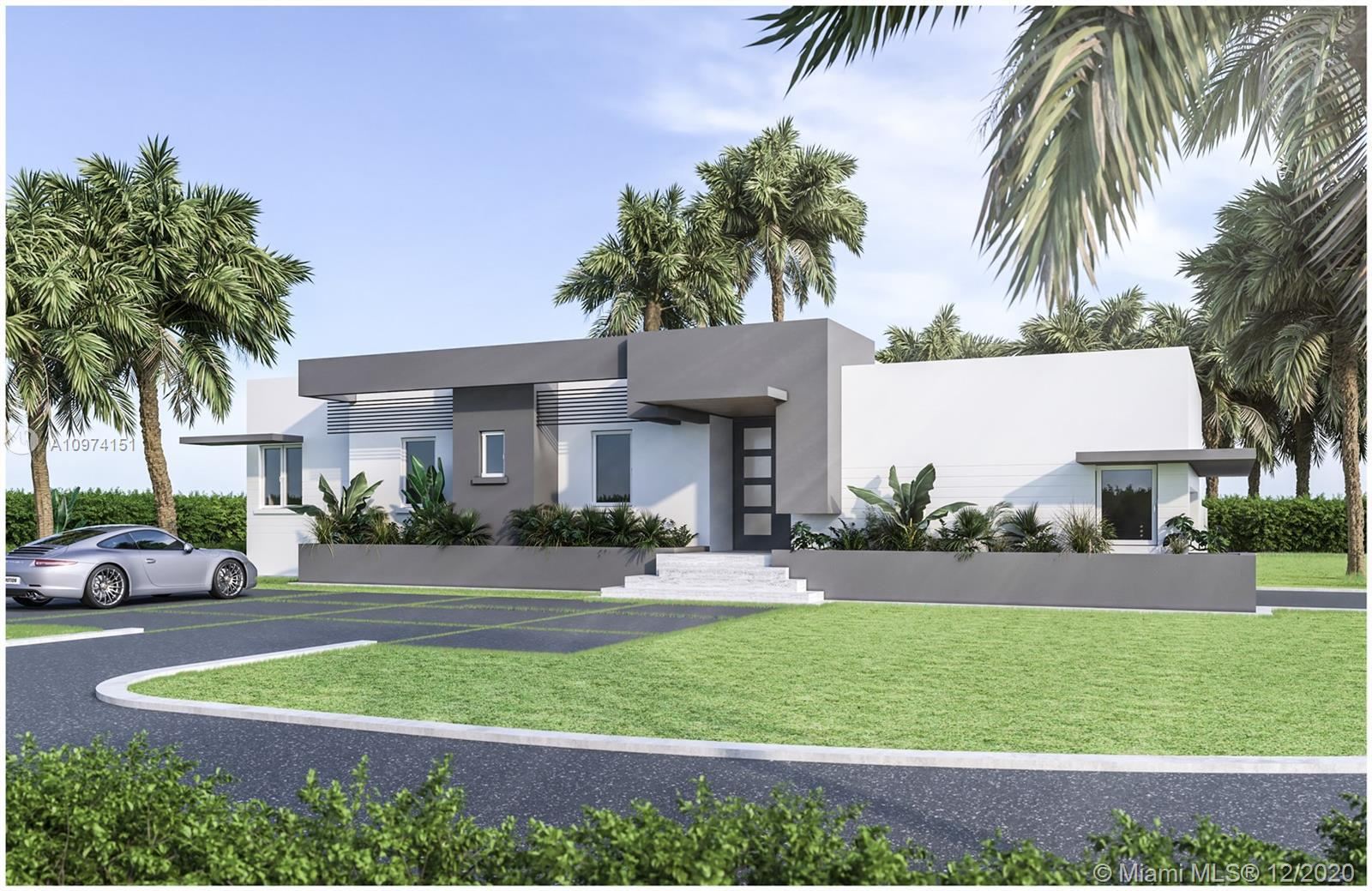 Miami Riches Real Estate presents exceptional new residence in exclusive Miami Shores, on a 11,566 s