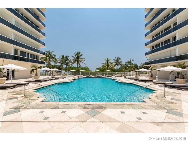 CHARMIN UNIT IN OCEANFRONT BUILDING ACROSS FROM BAL HARBOUR SHOPS! FULL SIZE 2 BEDROOM 2 BATH WITH A