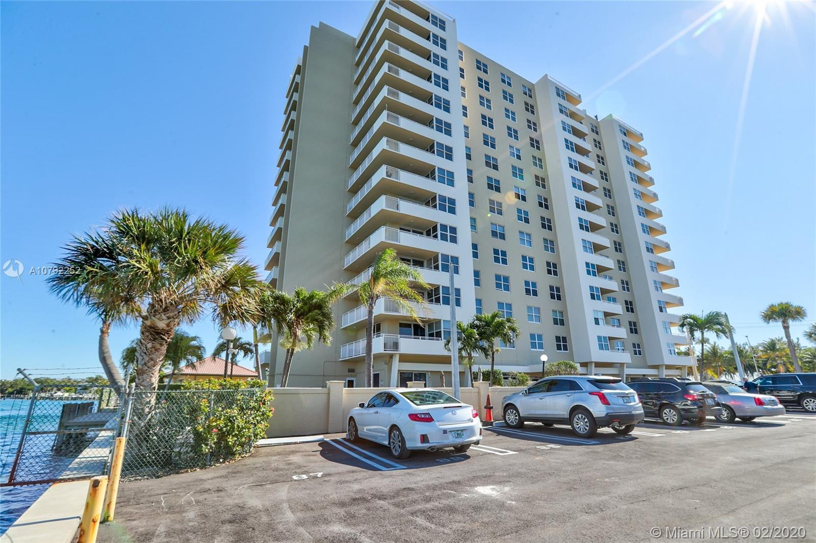 Great buy directly on the Intracoastal from the higher floor with South and Southwest views from all