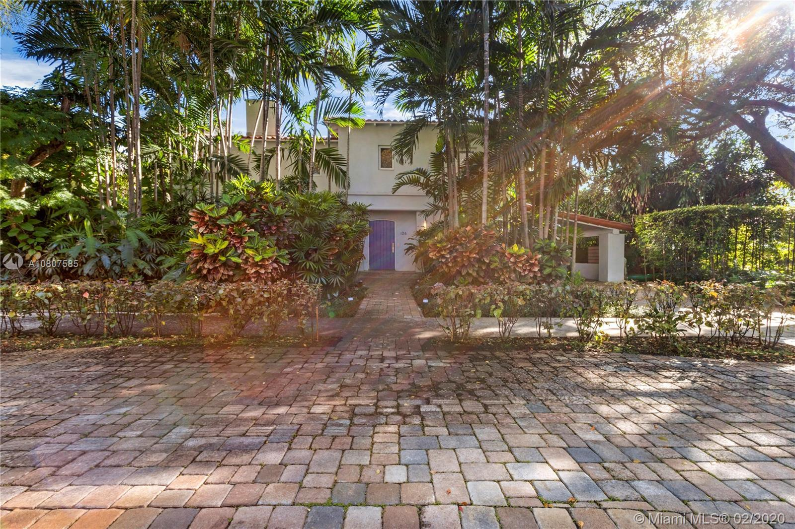 Beautifully renovated 1932 Mediterranean 2 story home in Miami Shores. Over-sized lot with mature la