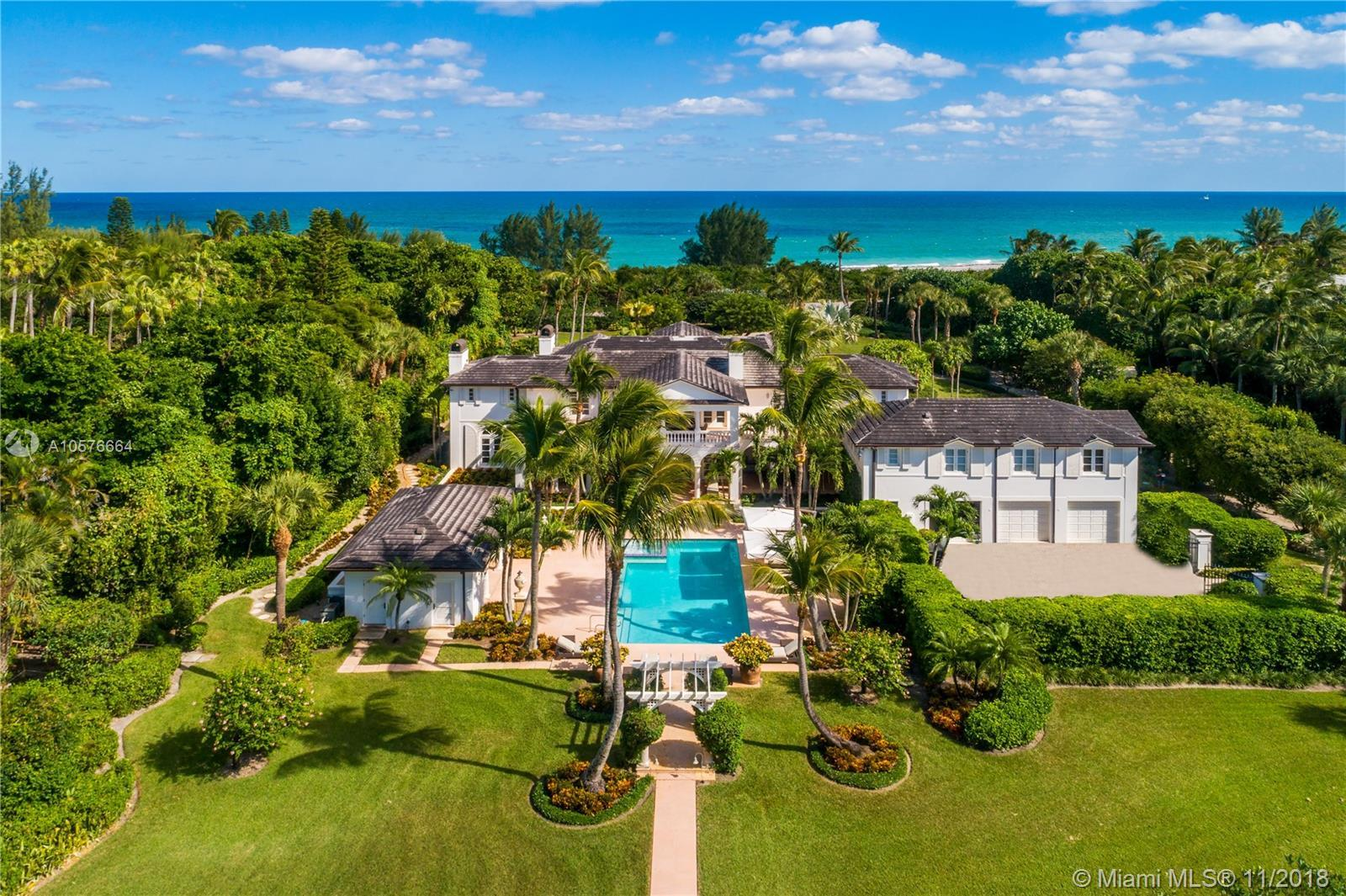 Sophisticated elegance on the Exclusive enclave of Jupiter Island. Gorgeous custom built home concea