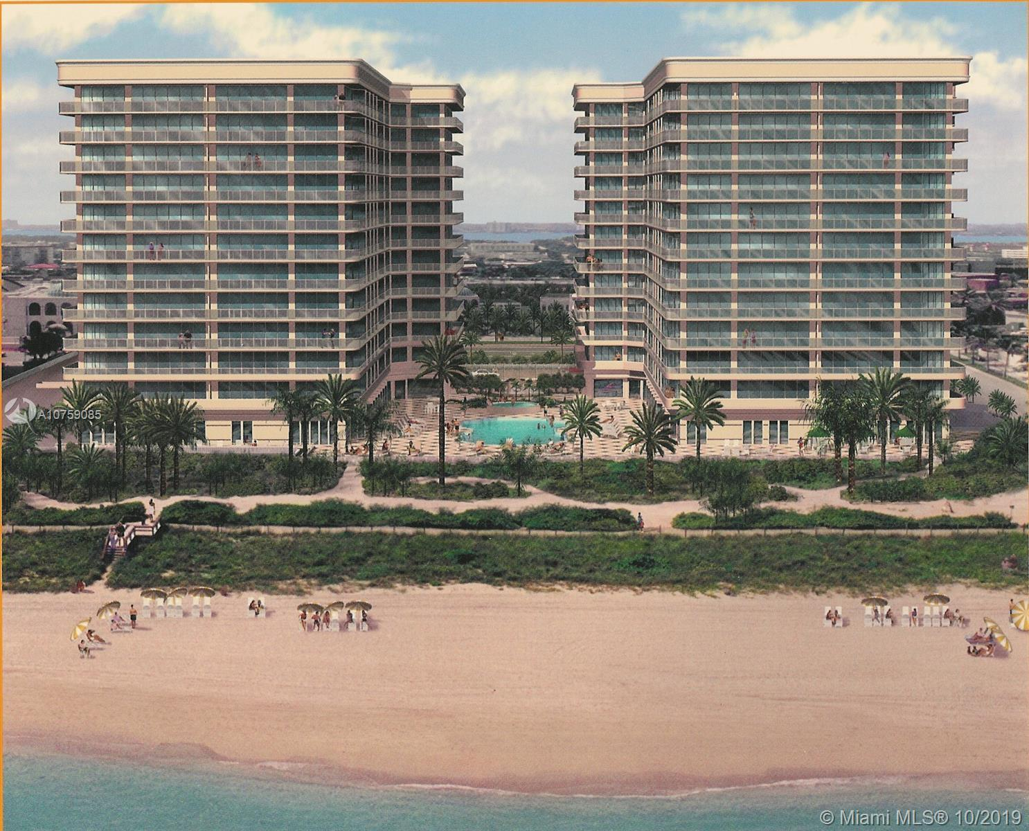 Impecable unit with 2 bedrooms 2.5 baths.  Nice view of the ocean with the pool area included. 