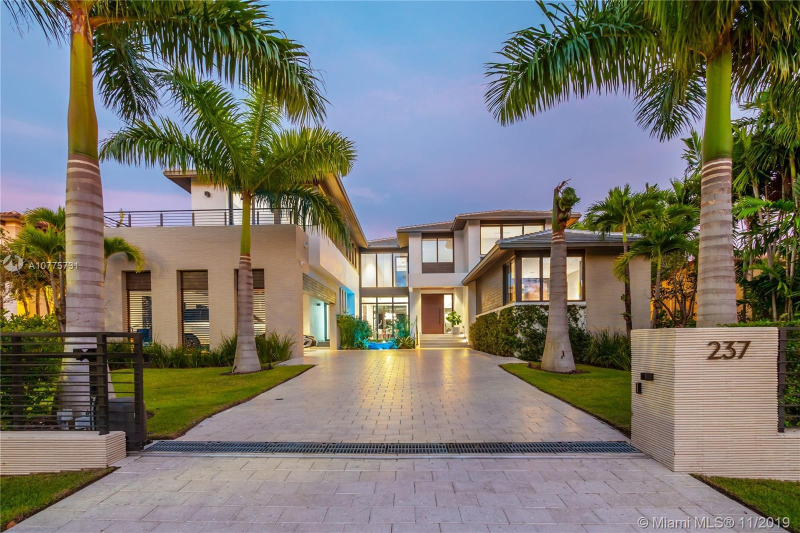 EXCLUSIVE BAL HARBOUR VILLAGE-GATED COMMUNITY. SPECTACULAR 2018 CONTEMPORARY GEM! BEAUTIFULLY DESIGN