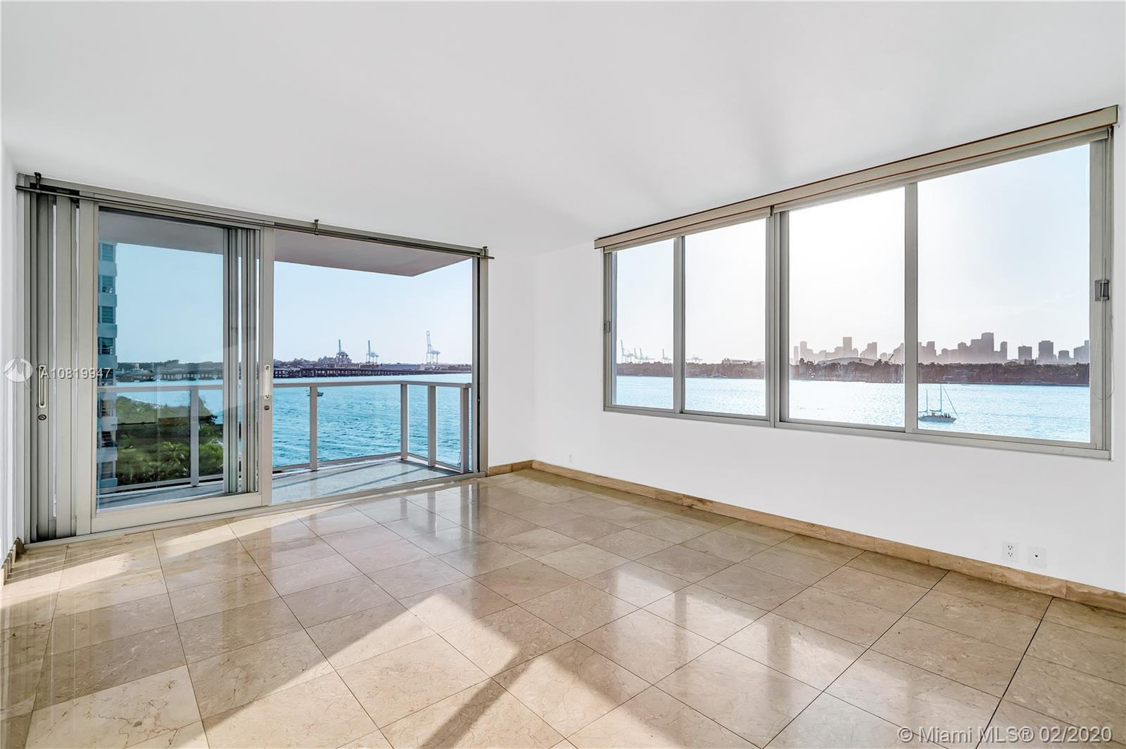 Rare find in South Beach acclaimed West Avenue : 2 bedroom / 2 bathrooms corner unit, with stunning
