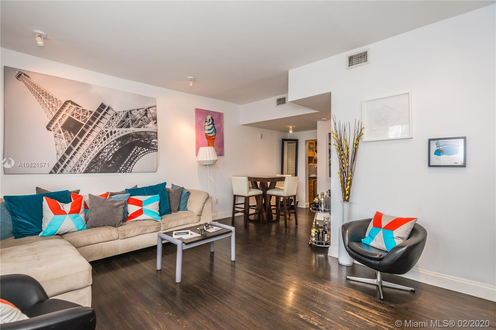 Beautiful Oasis in the heart of South Beach. Upgraded 1 bedroom, 1 bathroom. 750 bright sq. ft. Larg