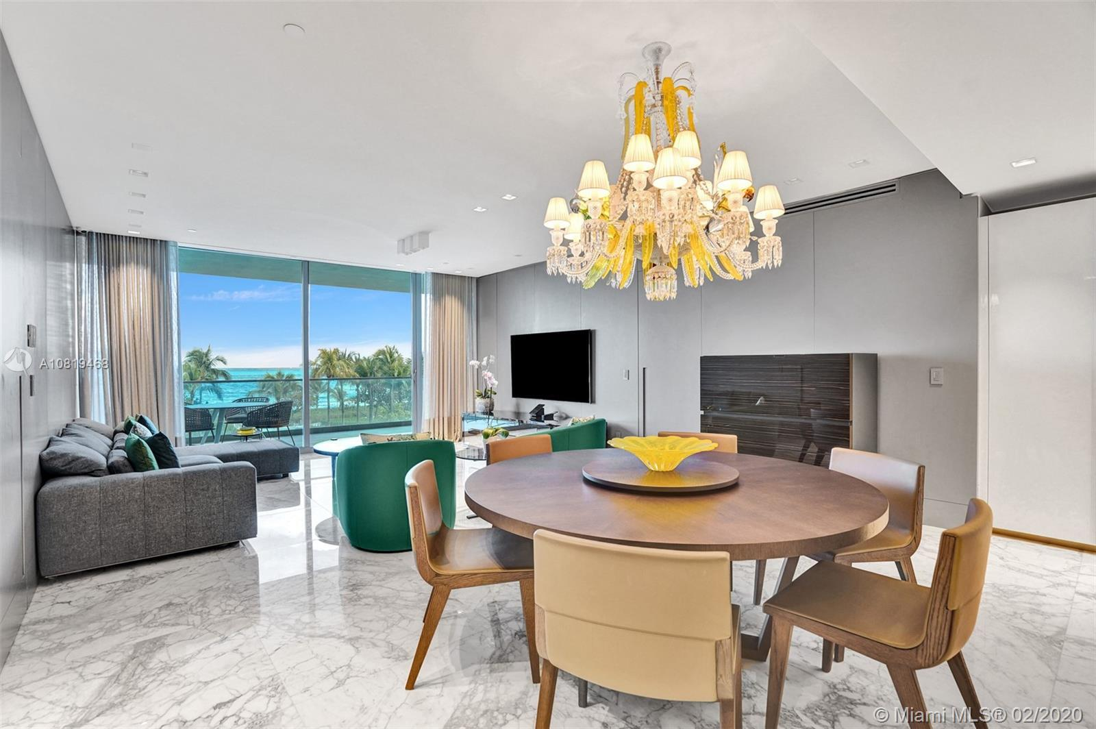 Enjoy Atlantic Ocean vistas and tropical breezes from this Oceana Bal Harbour 2 bedroom plus den sma