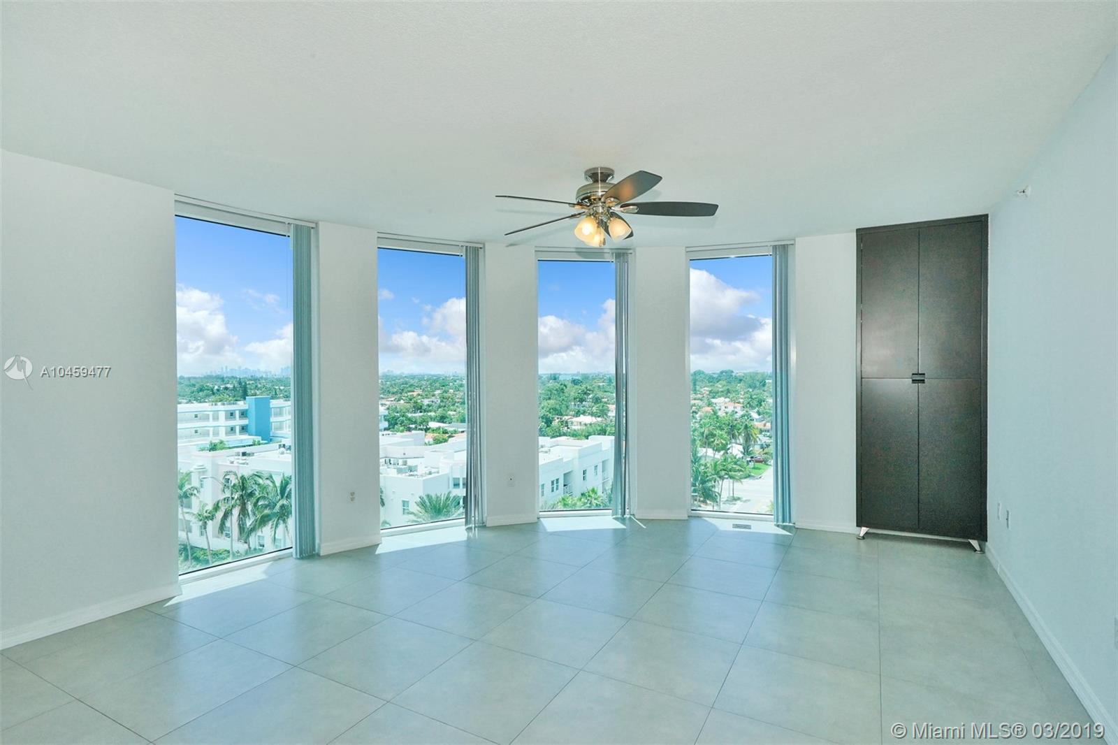 Very bright  and elegant 3/2 corner unit with beautiful ocean and city views in modern condominium b