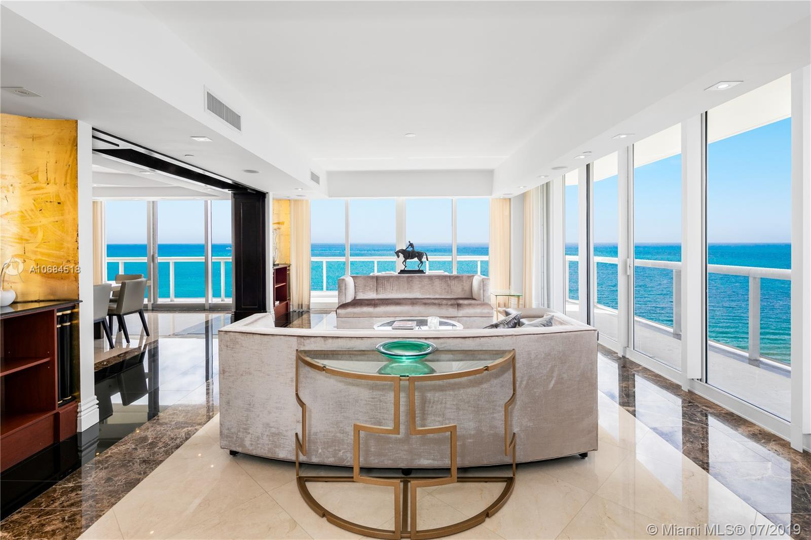 One-of-a-kind unit at the luxury Solimar in Surfside. Owner combined 3 units from the developer and
