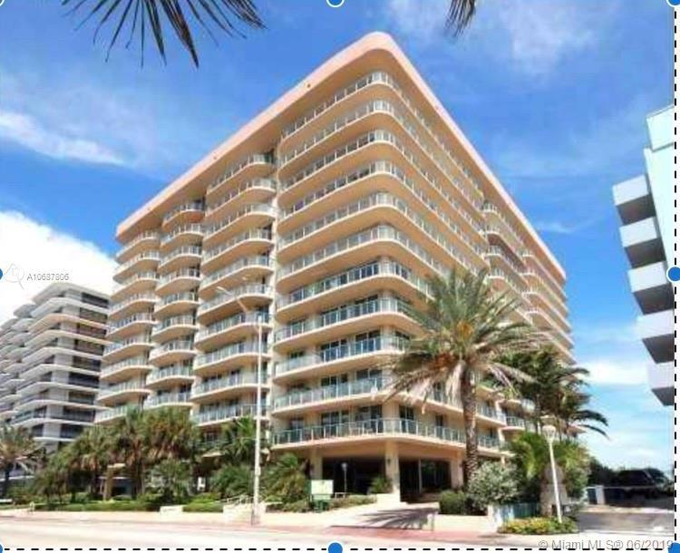 Large 1 bedroom 1.5 bath Oceanfront building in exclusive Surfside. Security and Doorman and Valet o